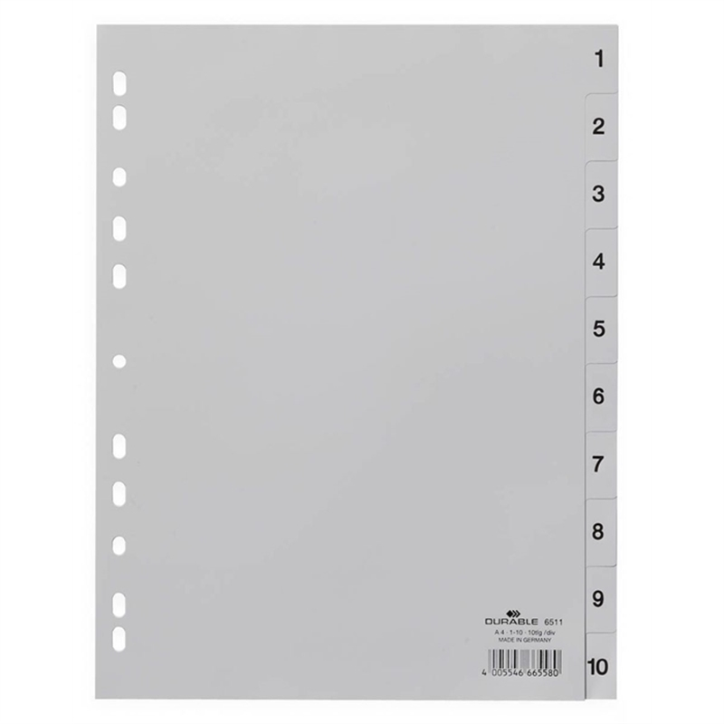 durable-register-pp-1-10-universallochung-a4-hoch-volle-hoehe-23-x-29-7-cm-grau